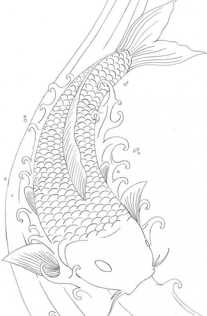 dragon fish coloring pages - photo#3