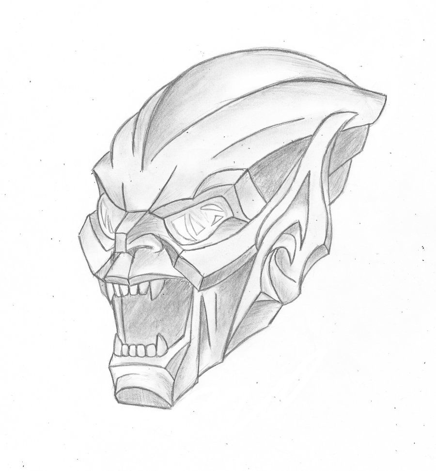 coloring pages green goblin - photo#17
