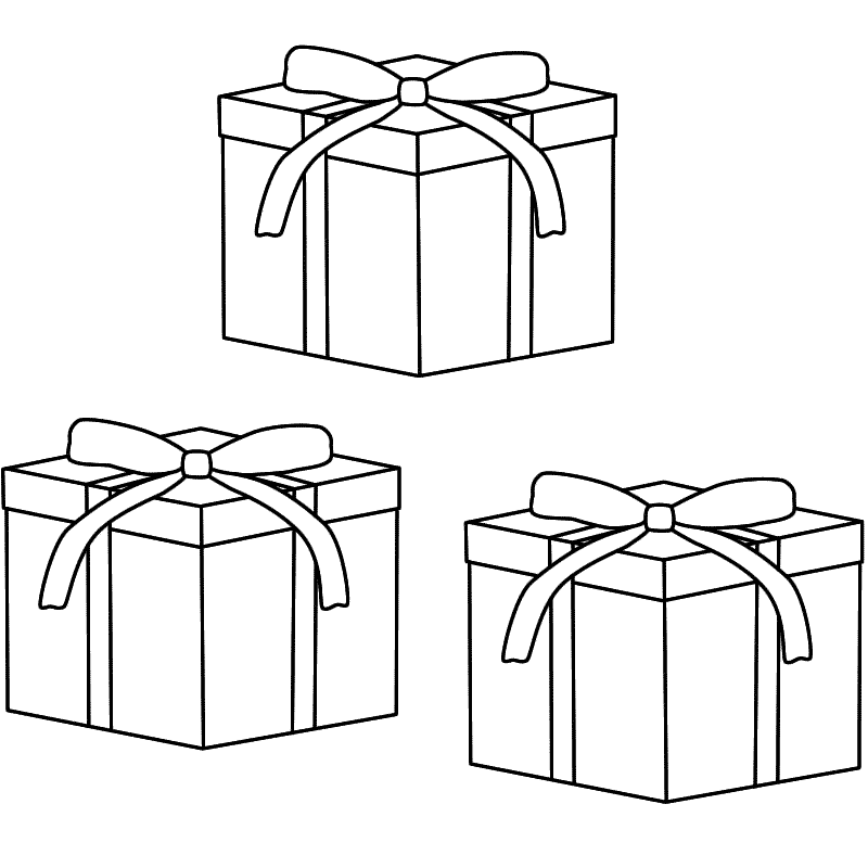 Gift coloring page coloring home for Coloring pages of christmas presents