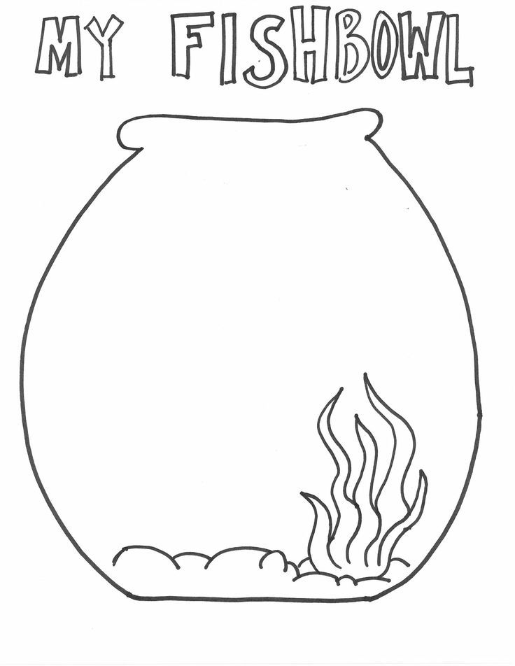 Fish Bowl Coloring Page Printable - Coloring Home