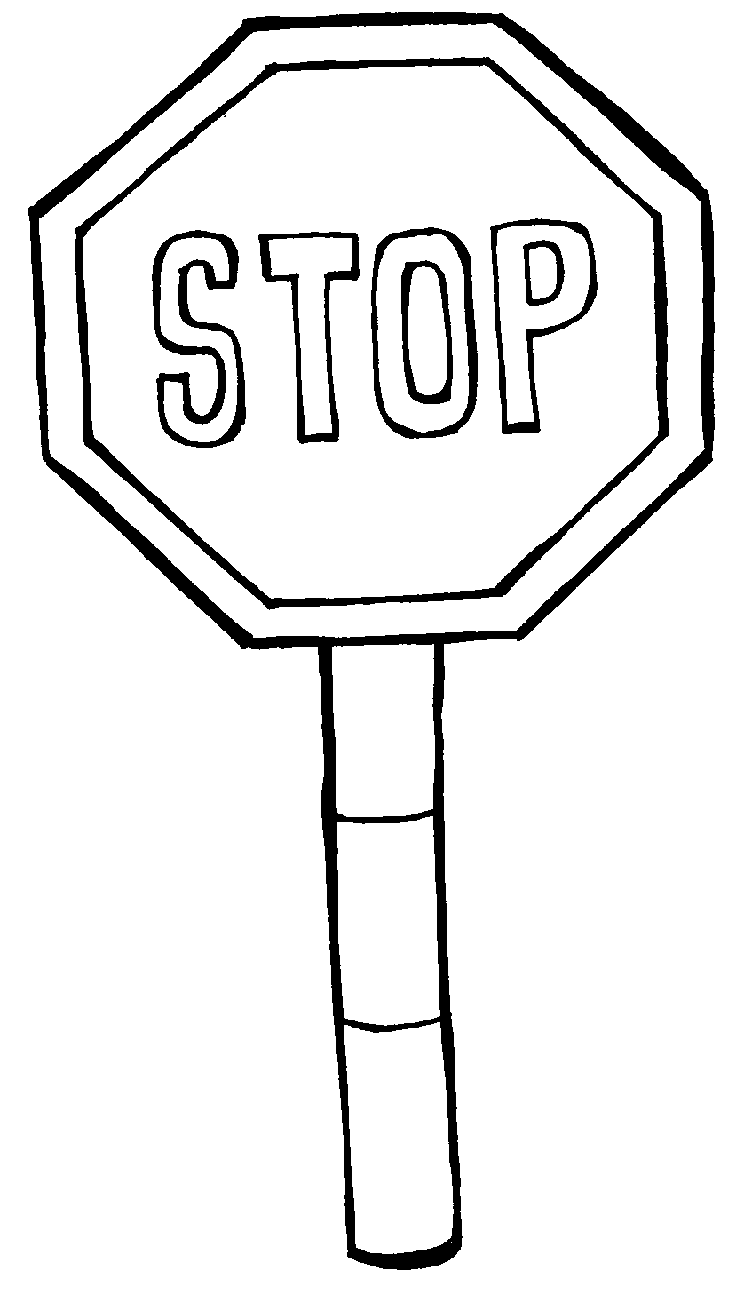 stop sign coloring pages - photo#12