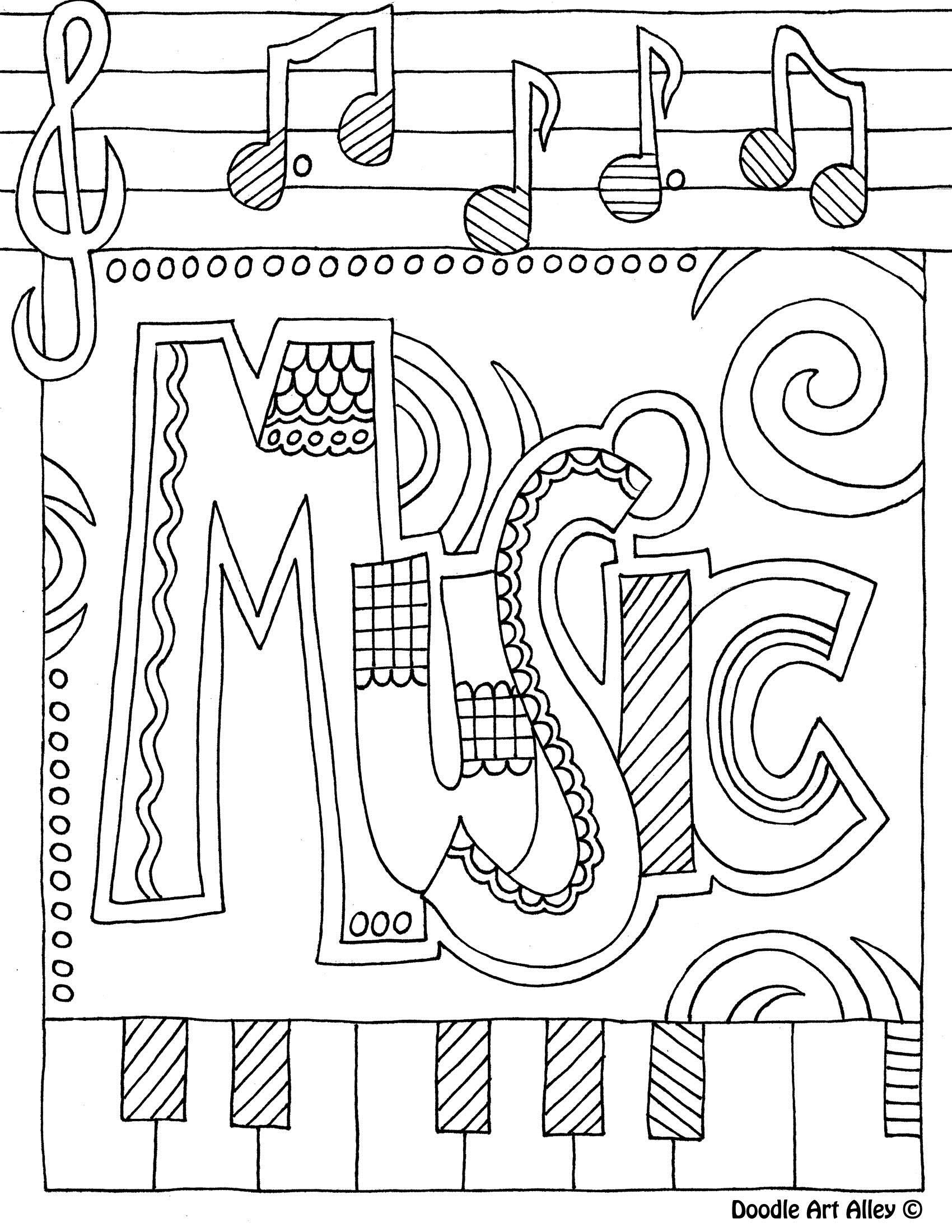 Music Coloring Pages Free Printable
