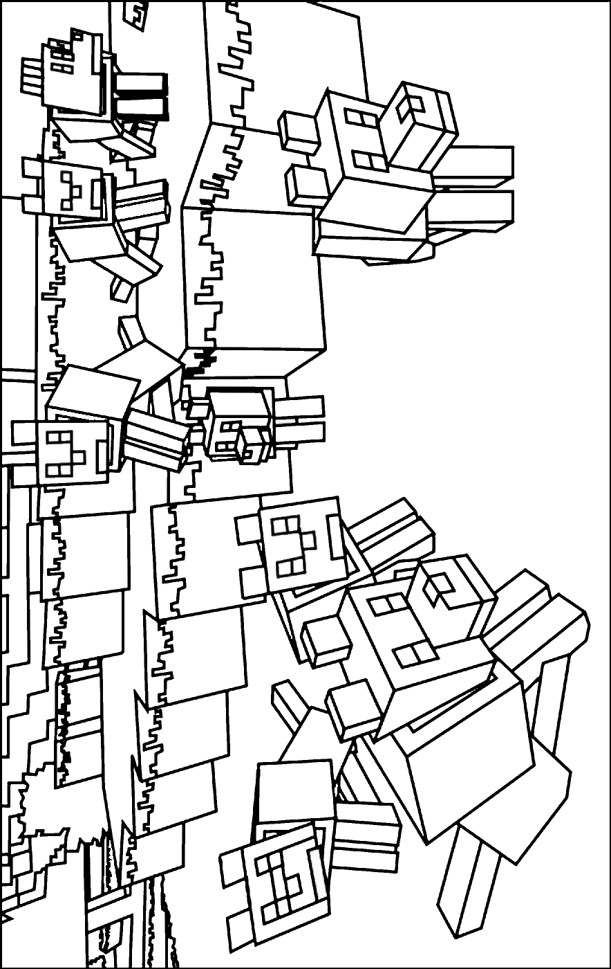 mine craft coloring pages - lego minecraft free coloring pages