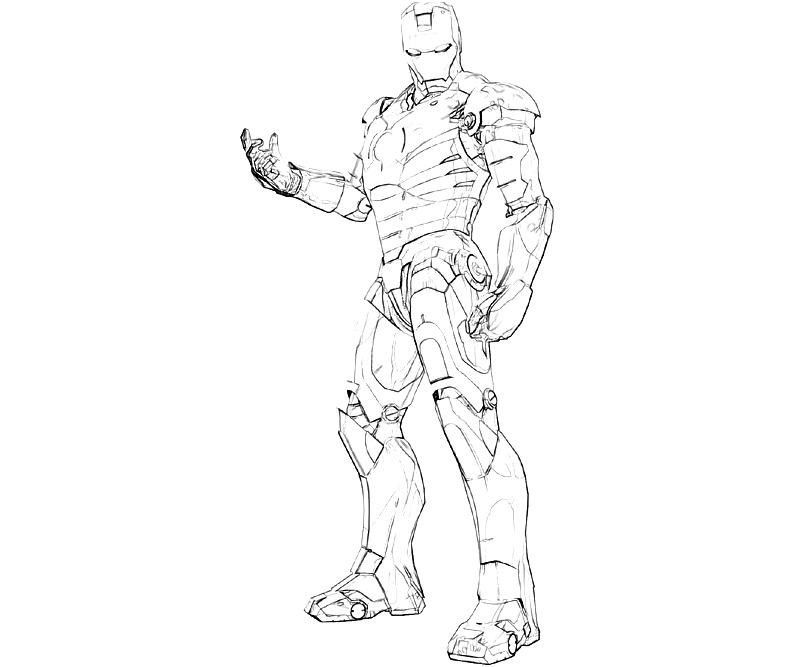 Iron Patriot Coloring Pages 3