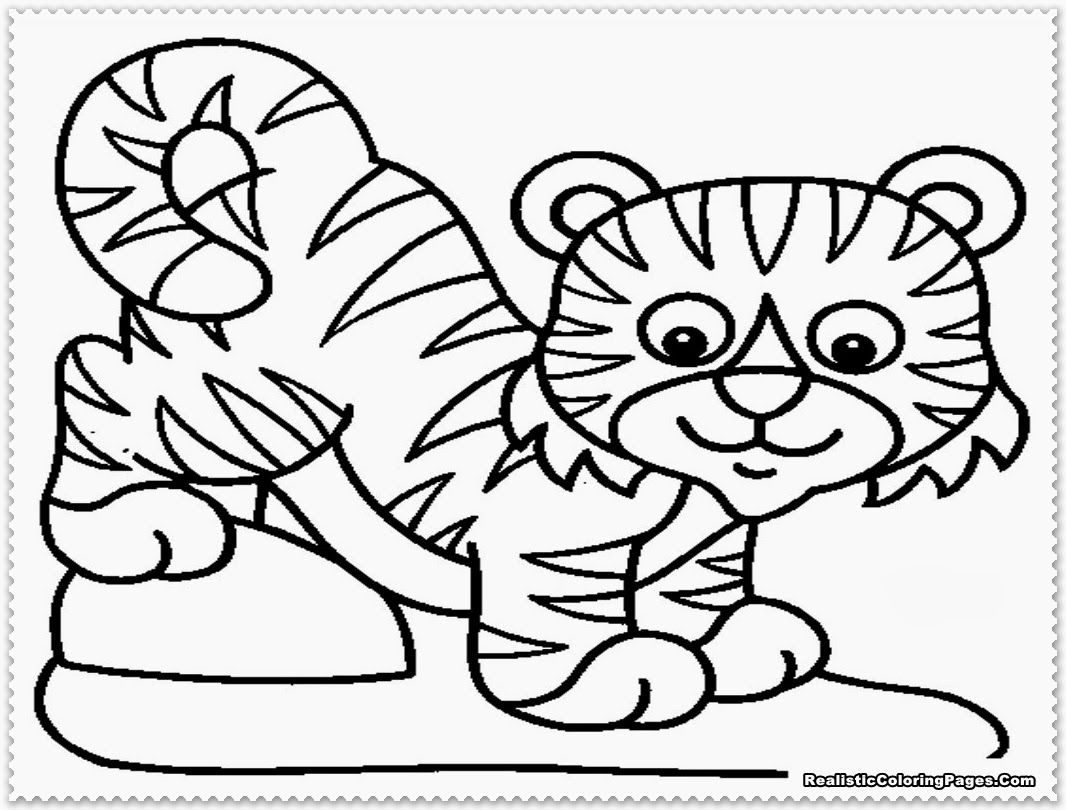 Coloring pages tiger - Tiger Coloring Page Only Coloring Pages