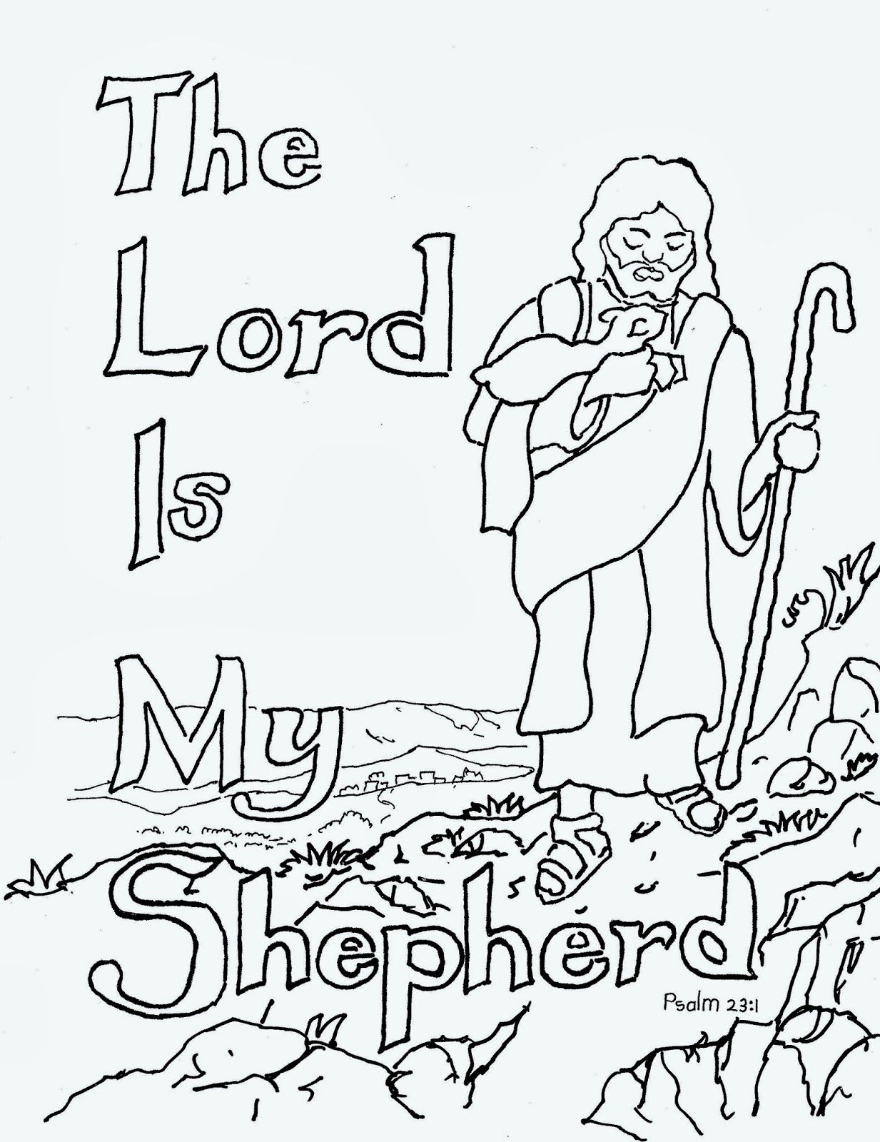 The Parable of The Good Shepherd Coloring pages 2 - The Parables ... | 1600x1233