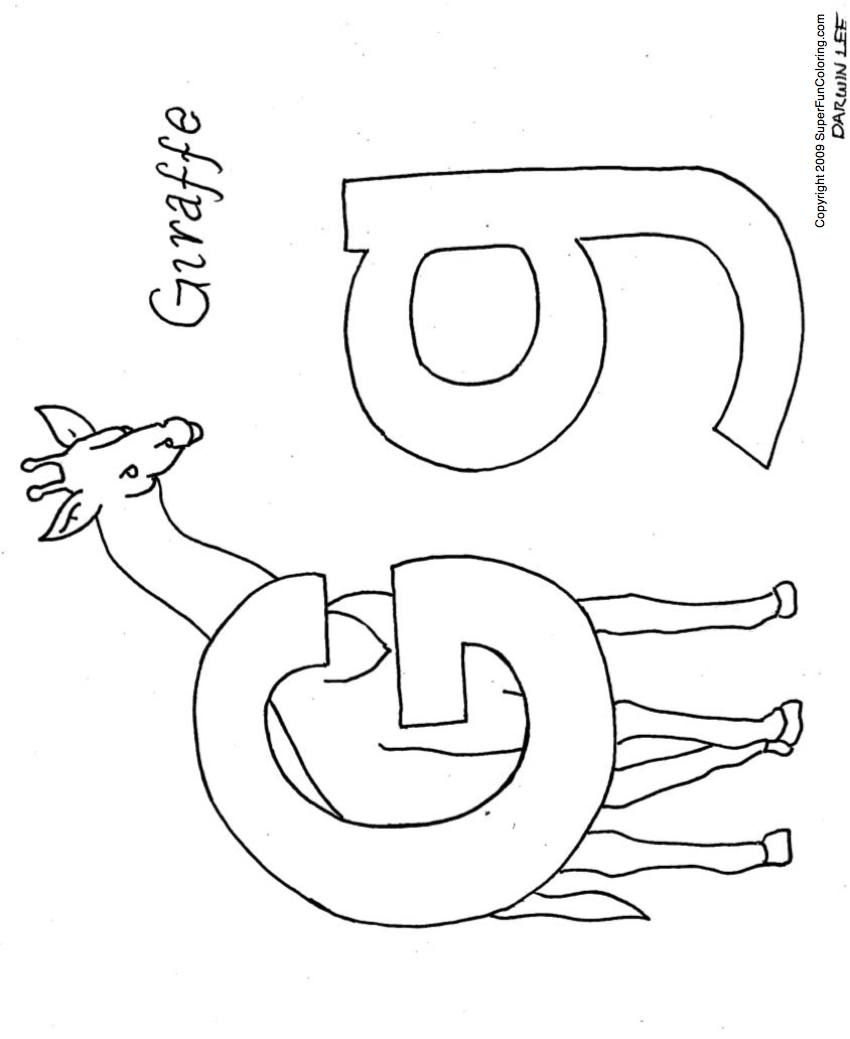 g is for giraffe coloring pages coloring home