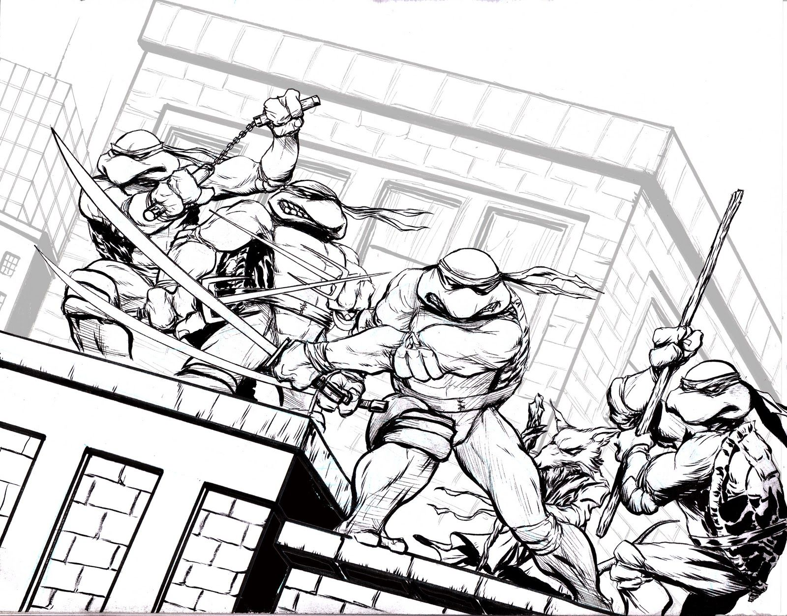 Christmas Ninja Turtles Coloring Pages Coloring Home