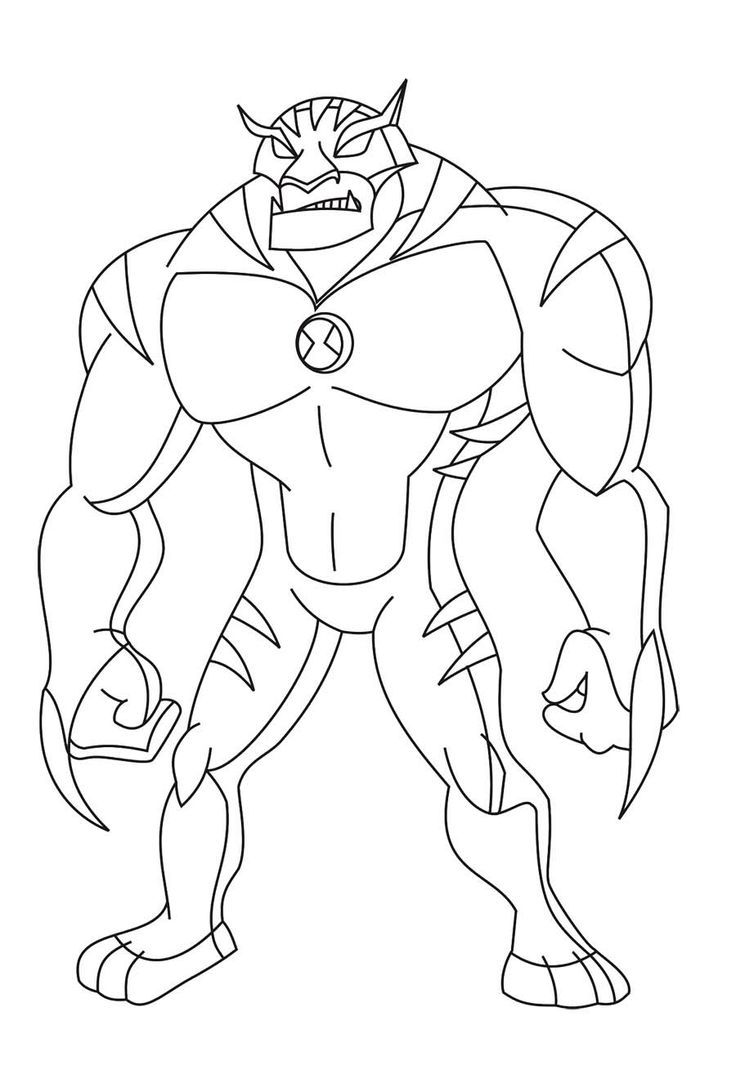 Ben 10 humungousaur coloring pages coloring home for Ten coloring page