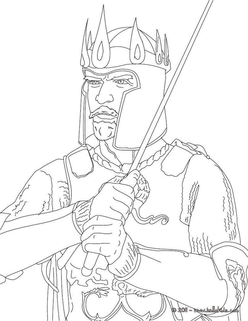 Colouring in kings and queens - British Kings And Princes Colouring Pages King Richard Iii