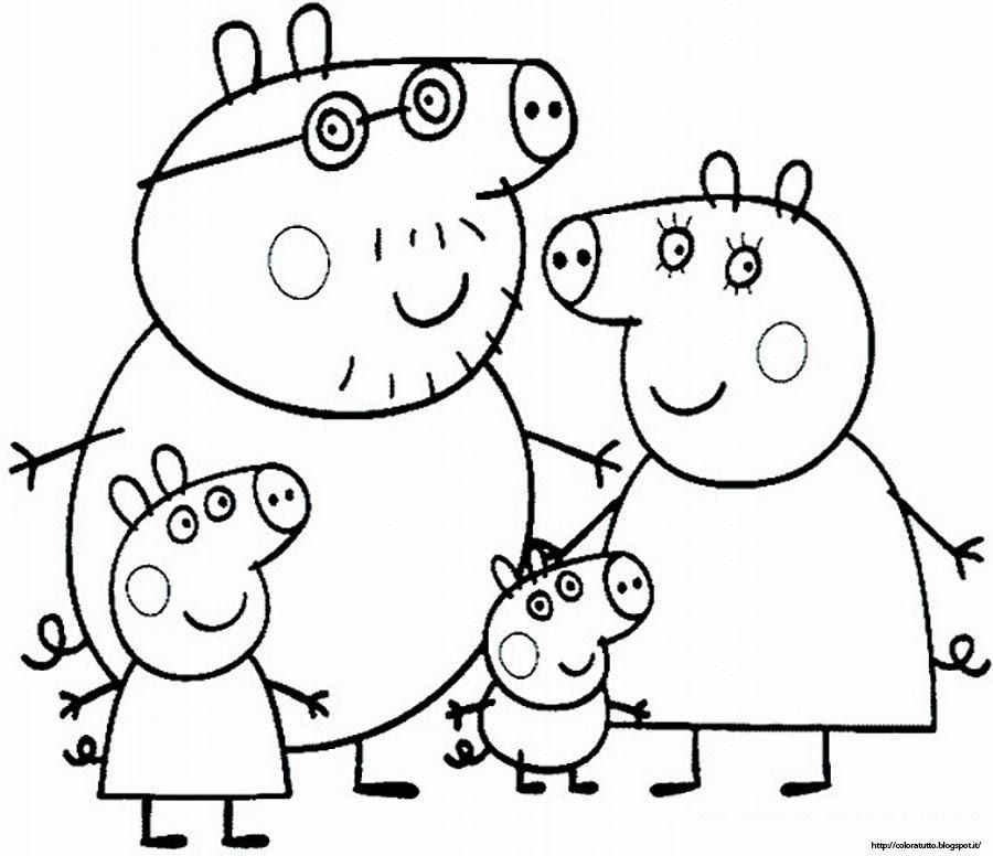 Peppa Pig Coloring Pages Free Printable Coloring Home