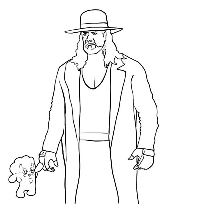 coloring pages of the undertaker wwe coloring pages undertaker coloring home