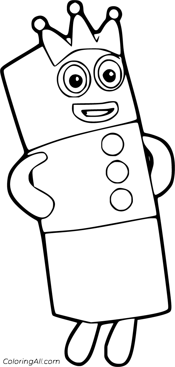 Numberblocks Coloring Pages - ColoringAll