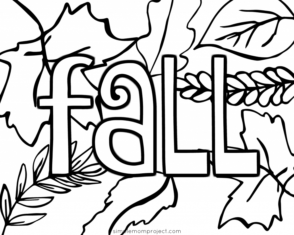 Free Printable Fall Coloring Pages Simple Mom Project Coloring Home