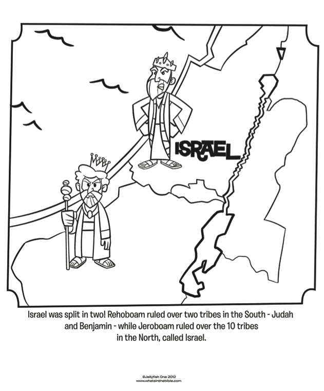 Israel and Judah - Bible Coloring Pages | What's in the Bible?