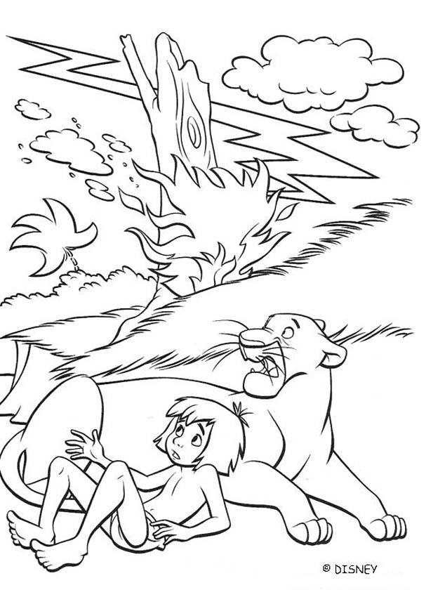 Mowgli Jungle Book Coloring Pages For Kids  Color Zini