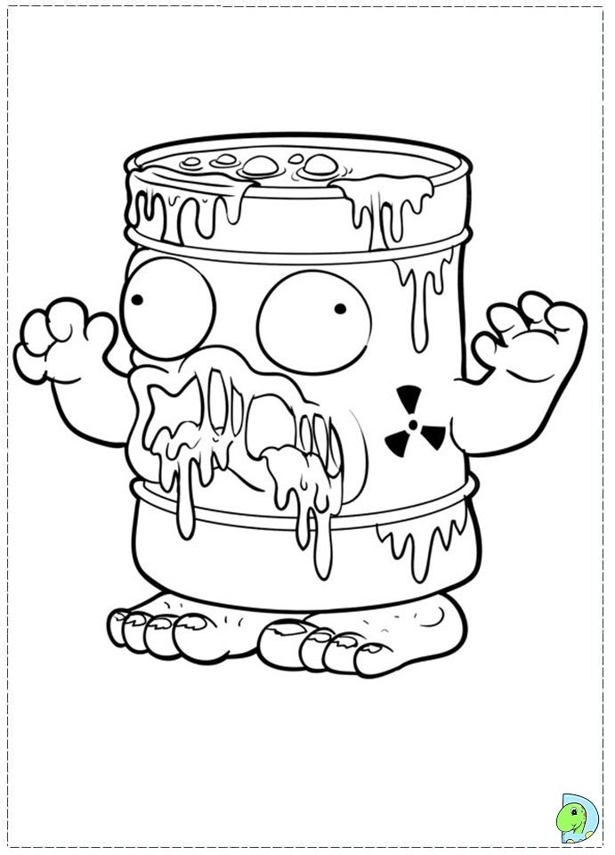 coloring pages trash packs - photo#14