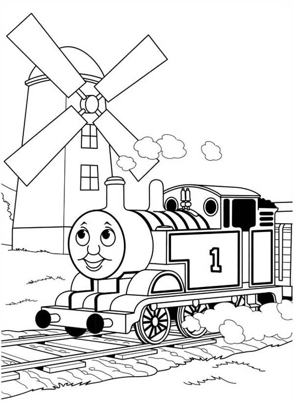 Printable Thomas The Train Coloring