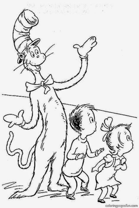 Cat In The Hat Coloring Pages Free - Coloring Home