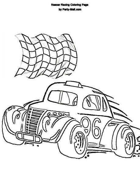 Herbie Car Coloring Pages : Herbie nascar coloring pages