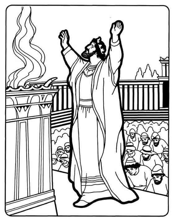 Solomon Build The Temple Coloring Page