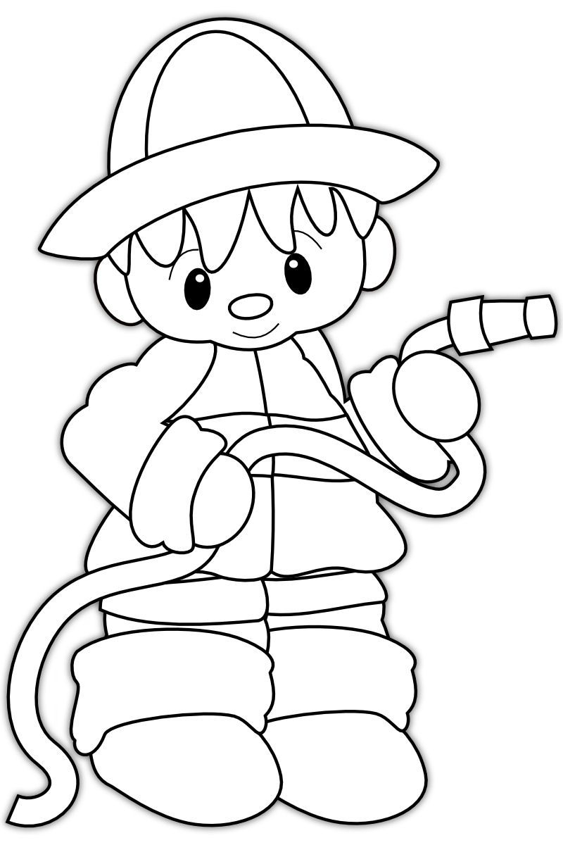coloring book pages fireman hat - photo#16