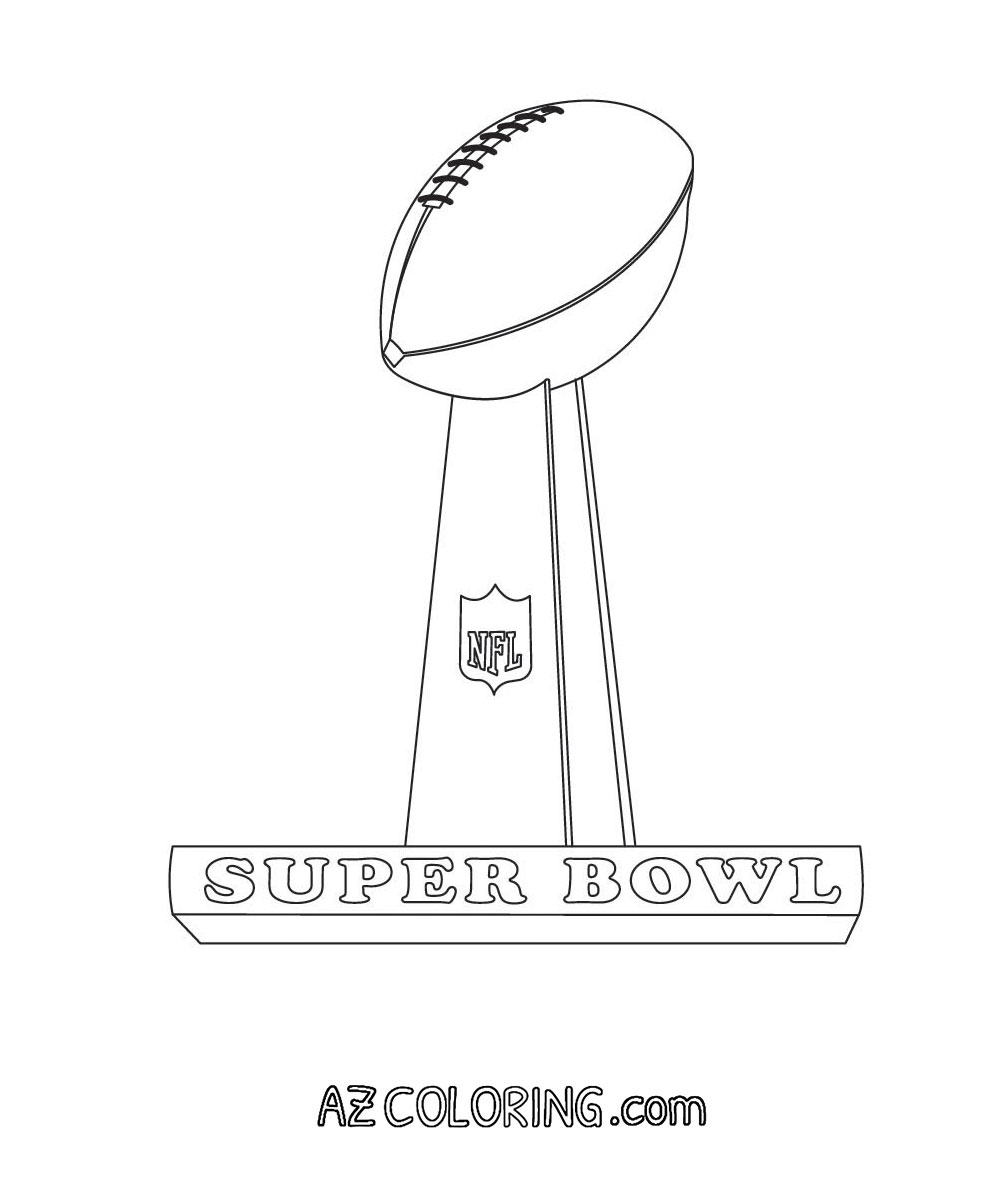 Superbowl Coloring Page