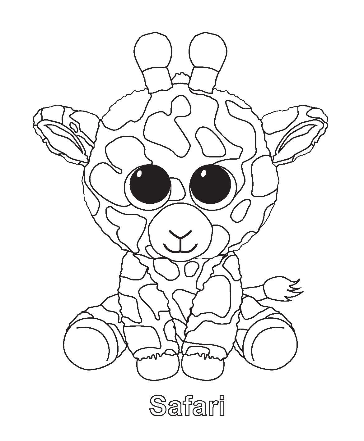 Ty Beanie Boo Coloring Pages Download And Print For Free Coloring Home