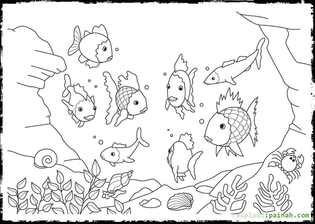 Rainbow Fish Printable Coloring Page - Coloring Home
