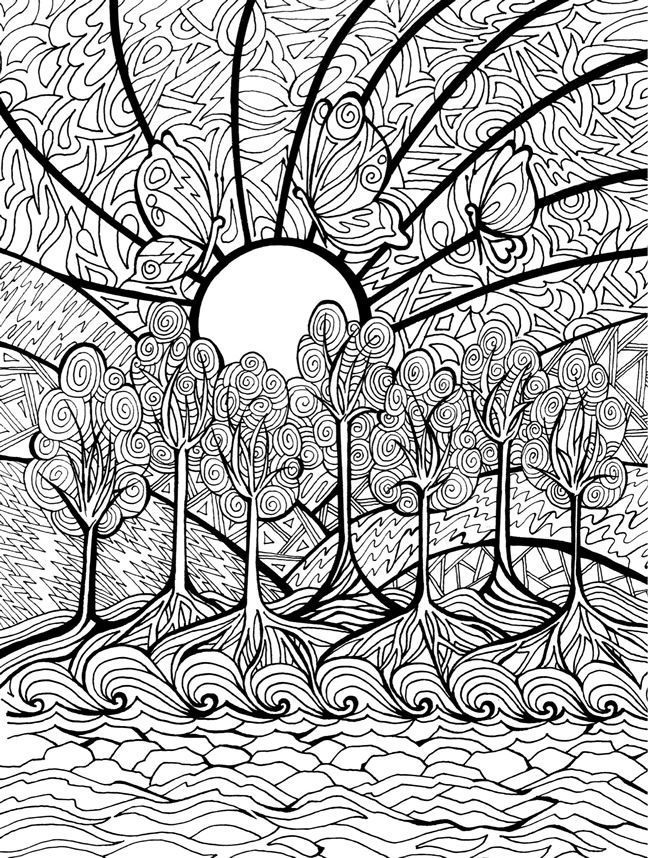 cool medium difficulty coloring pages - photo#31