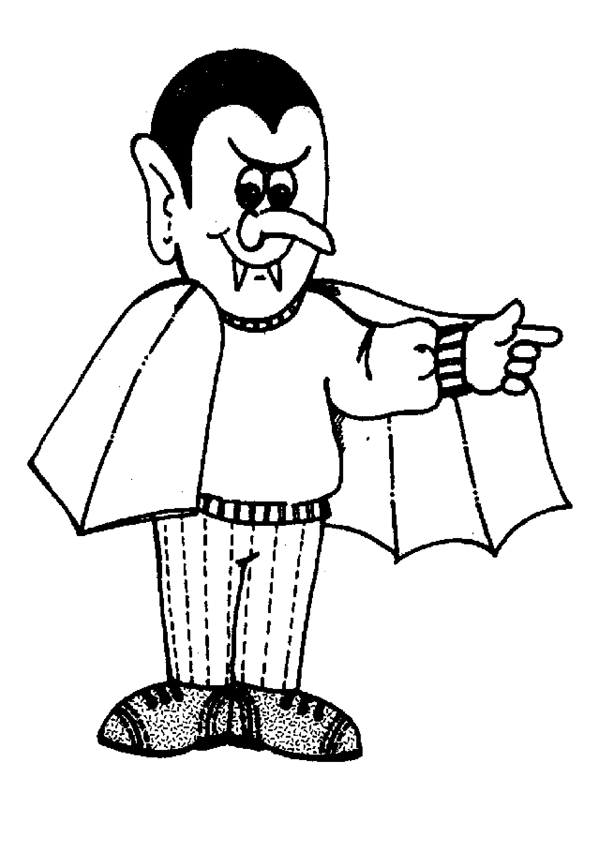 Halloween Cute Vampire Coloring Pages