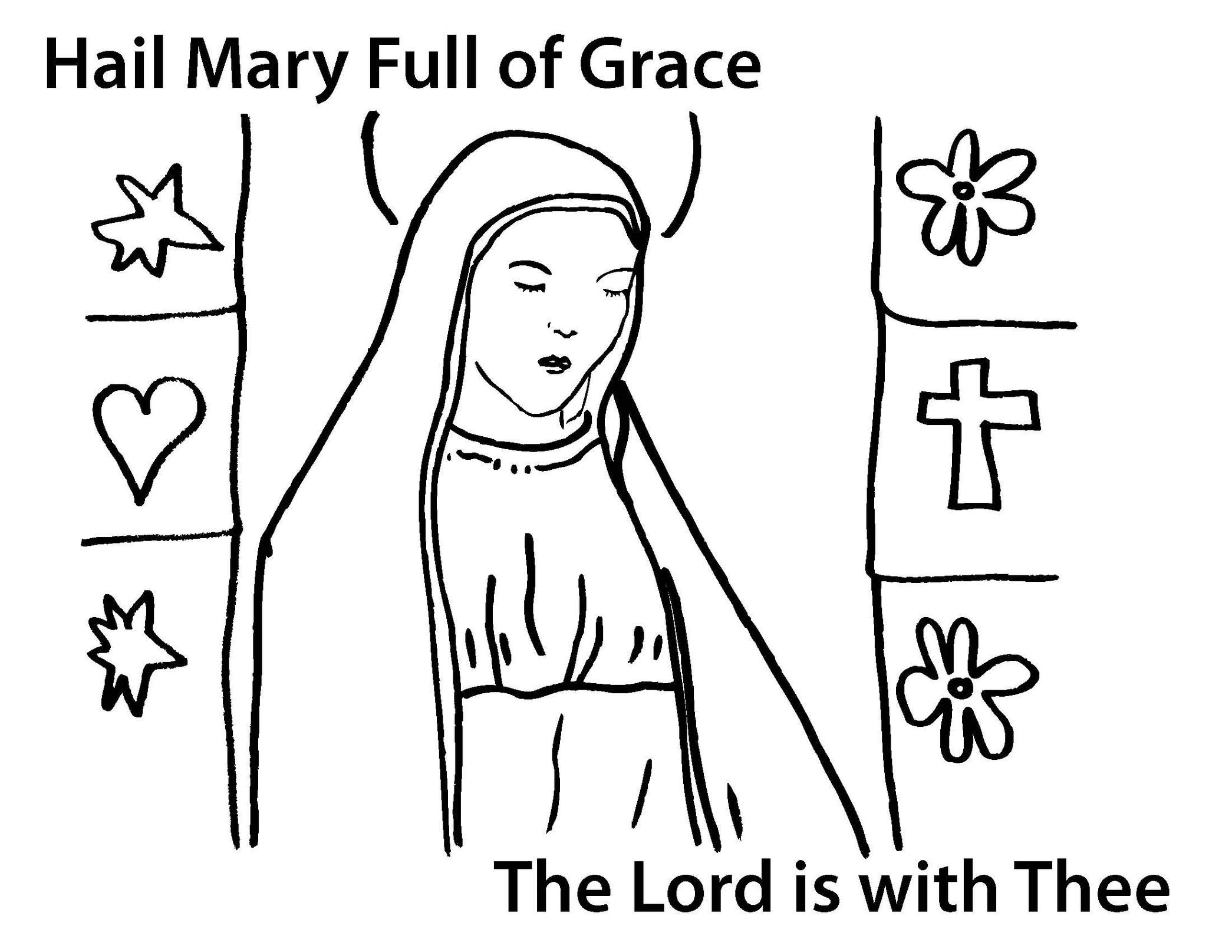 Free coloring pages virgin mary - Mary Mother Of God Coloring Page Clipart Free To Use Clip Art