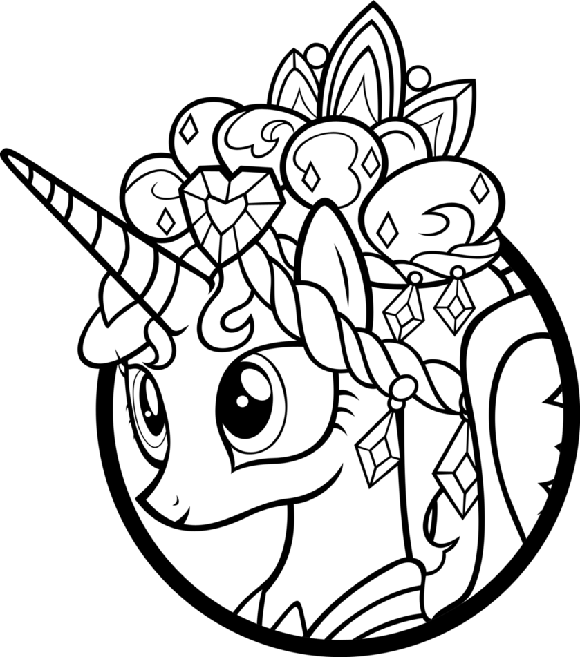 My little pony coloring pages princess cadence coloring home for Little princess coloring pages
