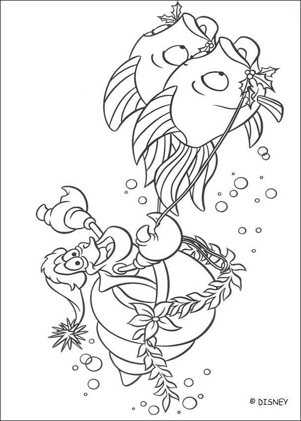 Little Mermaid amp Sebastian Coloring