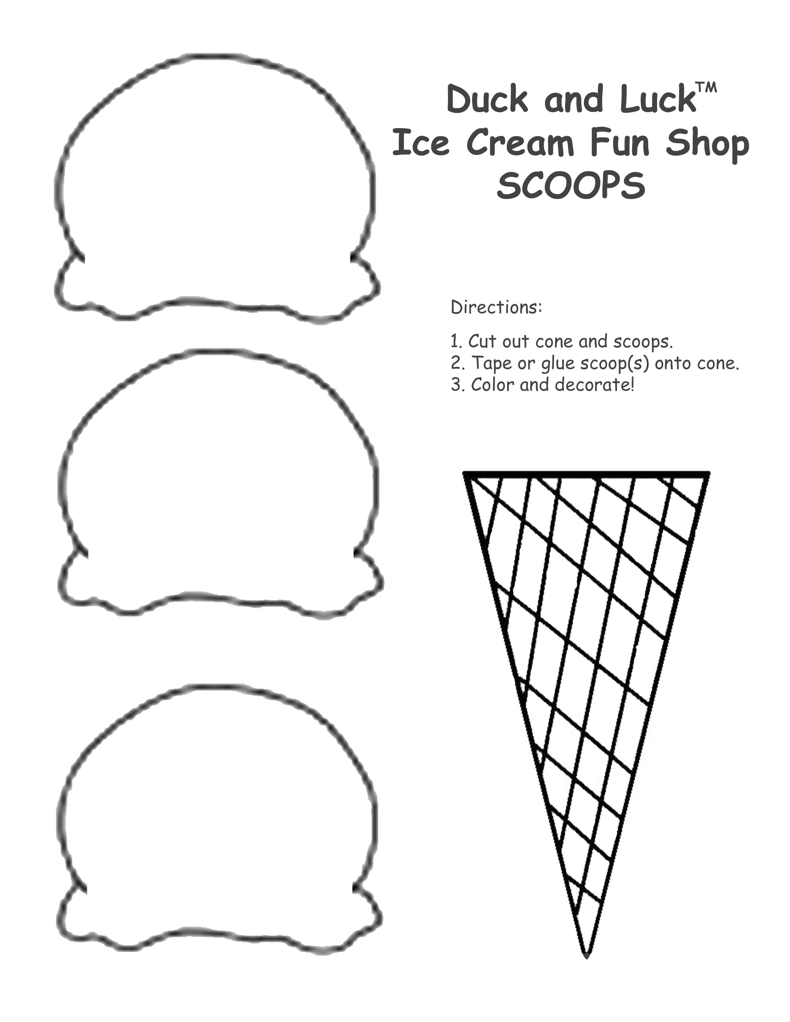 - Ice Cream Cone Coloring Pages To Print - High Quality Coloring