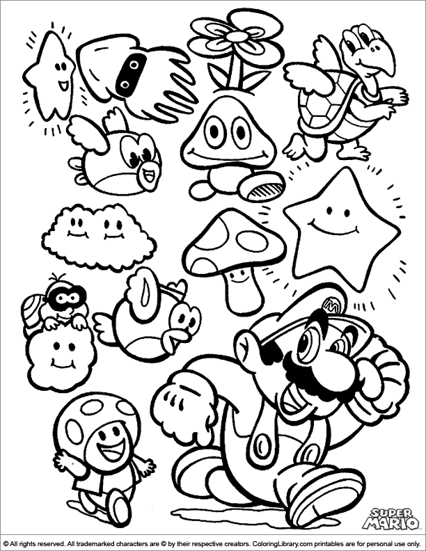 Super Mario Brothers Coloring Pages Printables