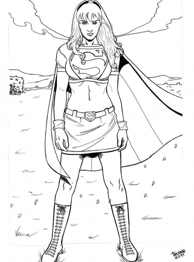 Supergirl Coloring Pages - Coloring Home