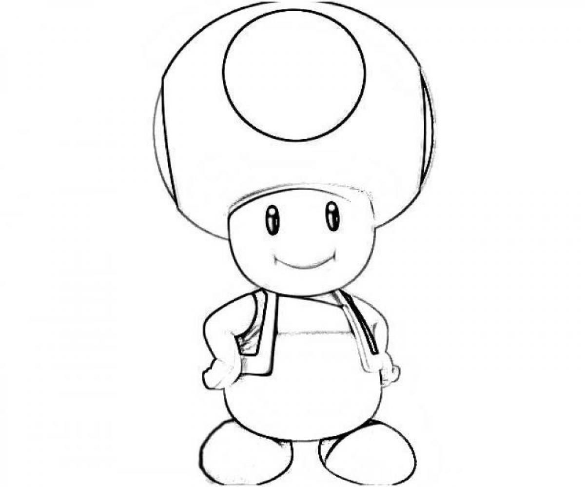 Yoshi And Toad Coloring Pages Coloring Home