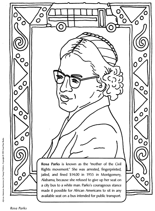 Rosa Parks - Coloring Pages For Kids And For Adults - Coloring Home