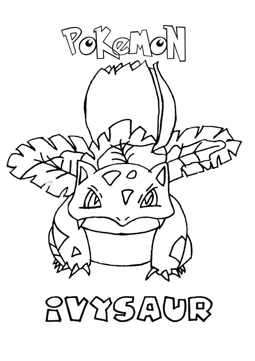 ivysaur pokemon coloring page