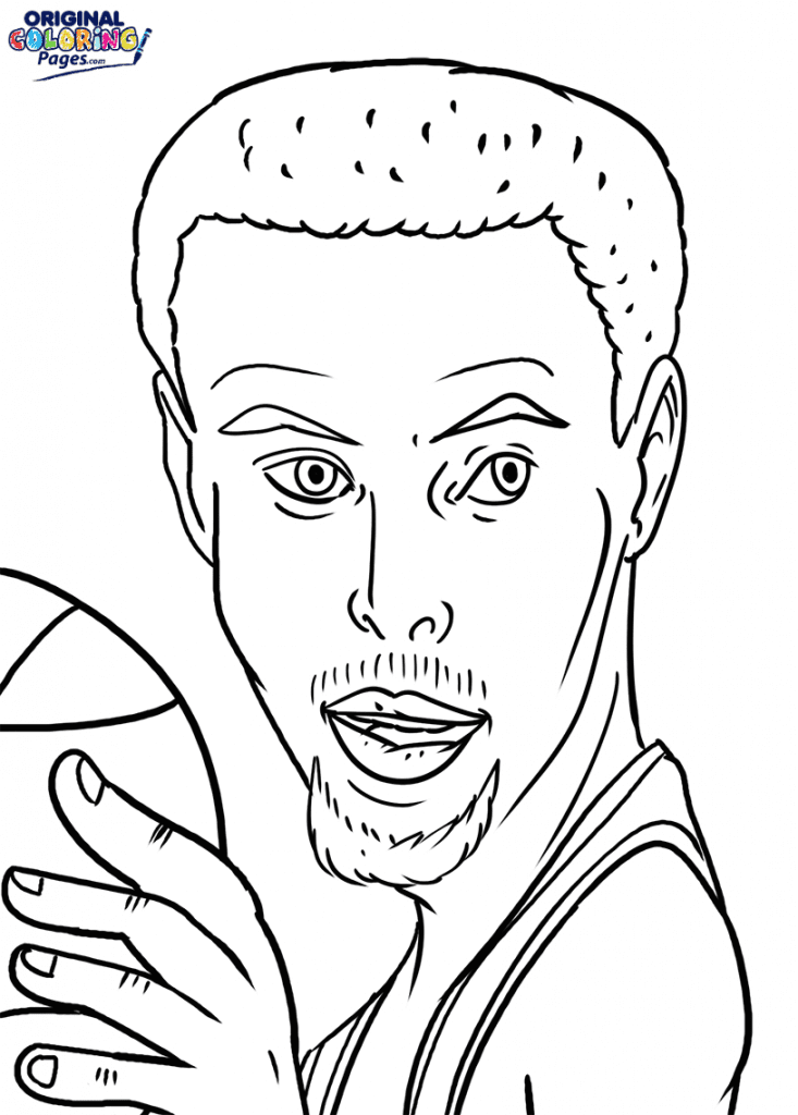 Stephen Curry Coloring Page Coloring Pages - Original Coloring Pages -  Coloring Home