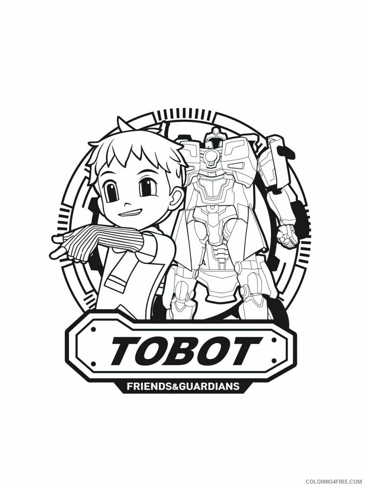 Tobot Coloring Pages TV Film Tobot 10 ...coloring4free.com
