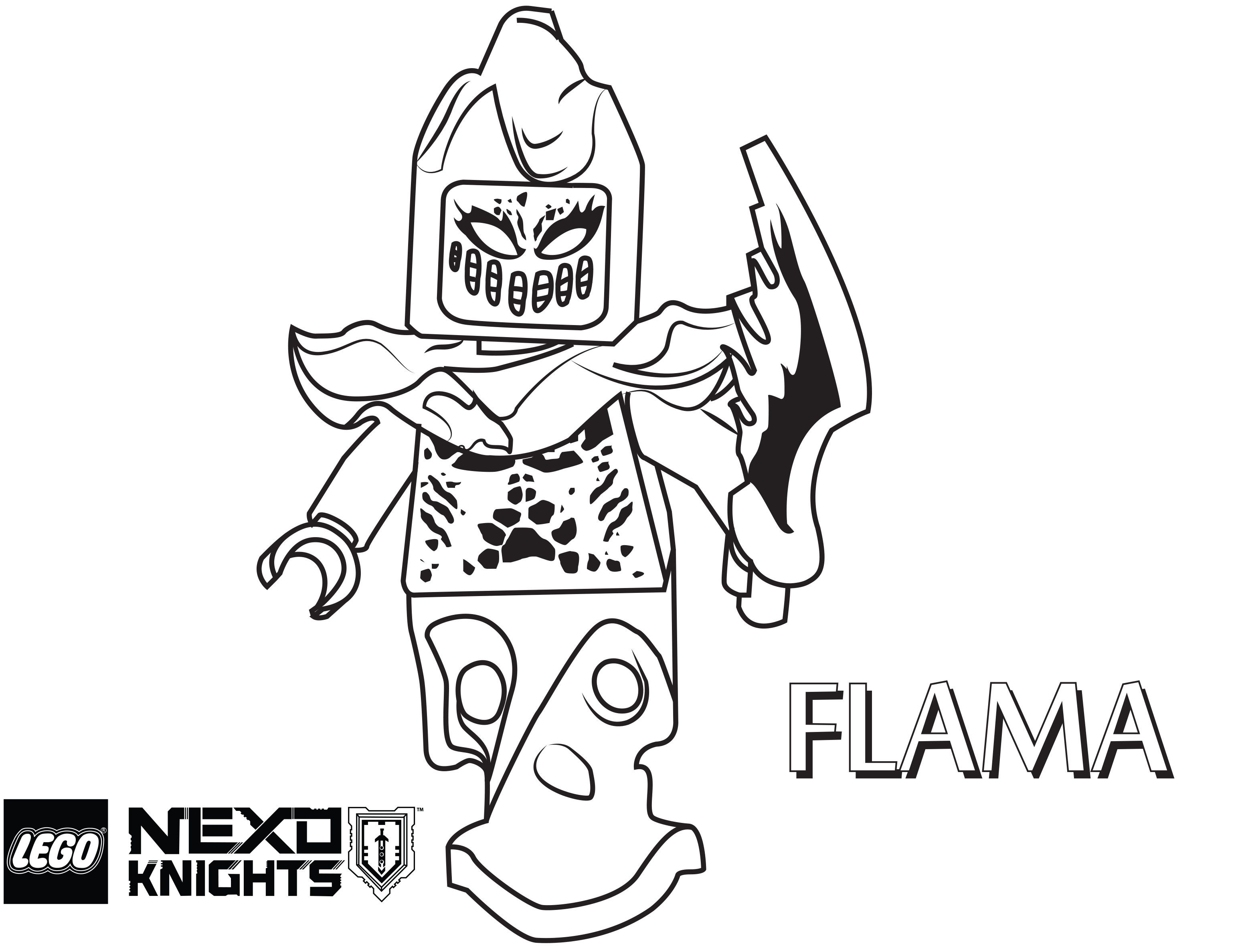 Nexo Knights Coloring Pages : Nexo lego knights coloring pages sketch page az