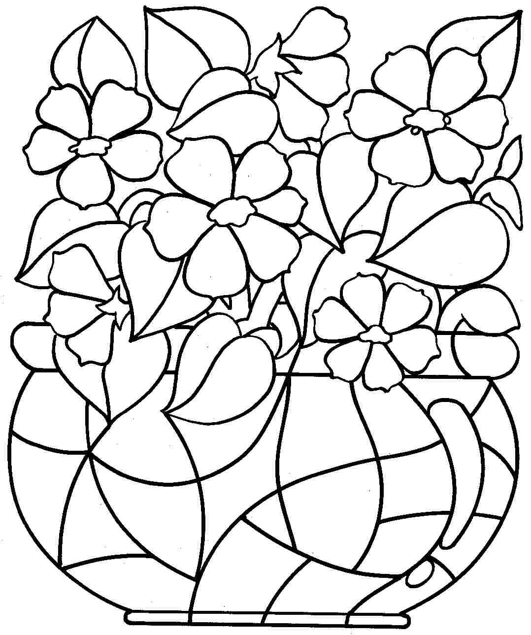 - Free Printable Coloring Pages Of Flowers For Kids - Coloring Home