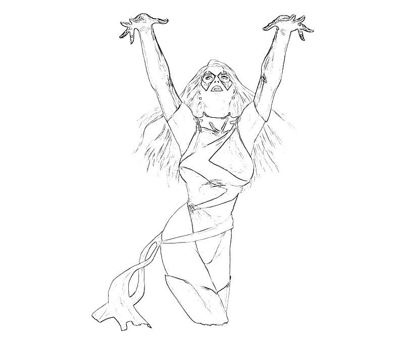 Ms Marvel Coloring Pages Coloring Home