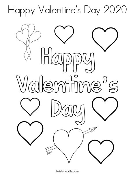 - Valentine's Day 2020 Coloring Pages - Coloring Home