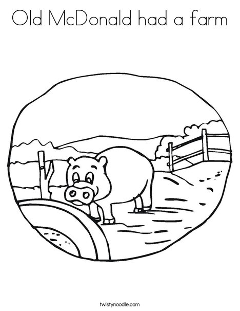 old mcdonald coloring pages - photo#26