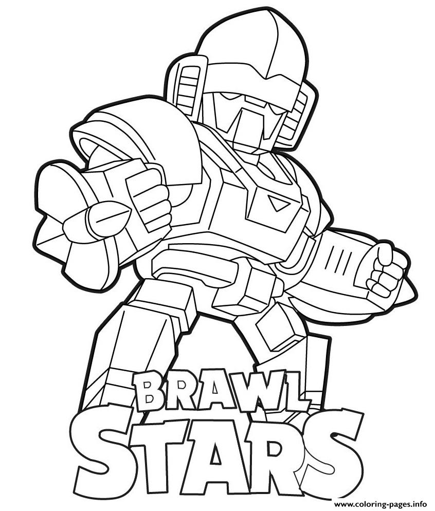 Mecha Bo Brawl Stars Coloring Pages Printable