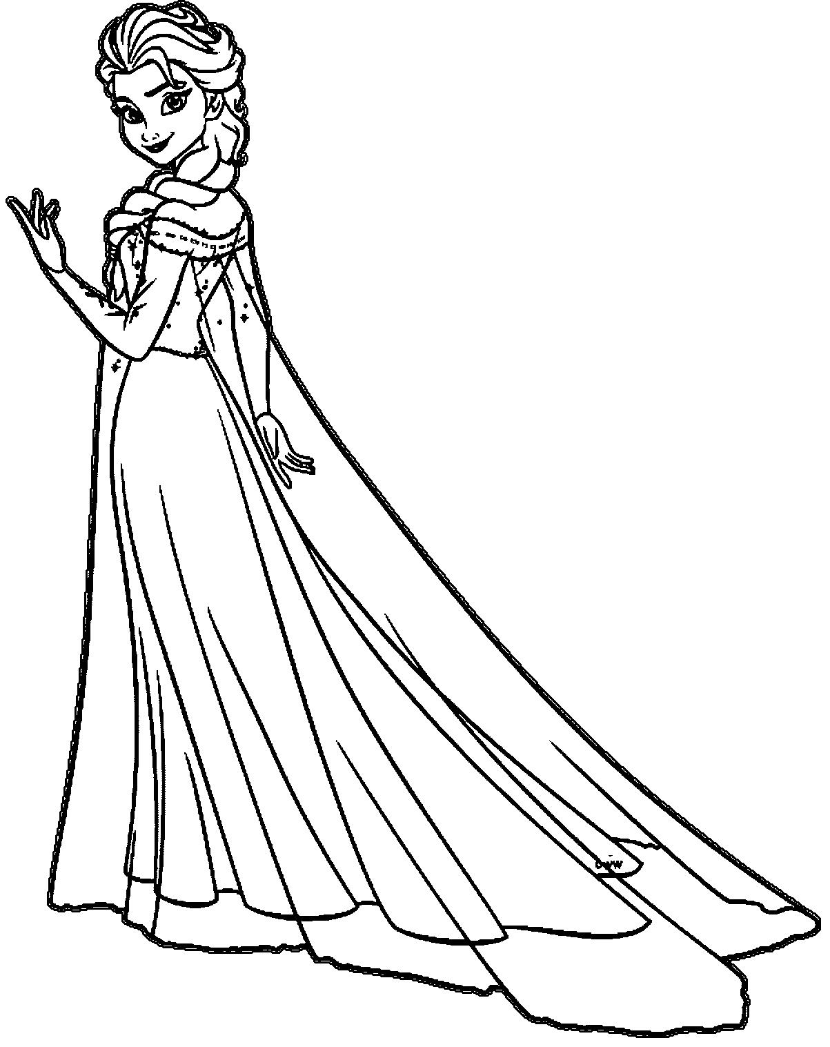 Coloring Pages Princess Elsa | Printable Coloring ...