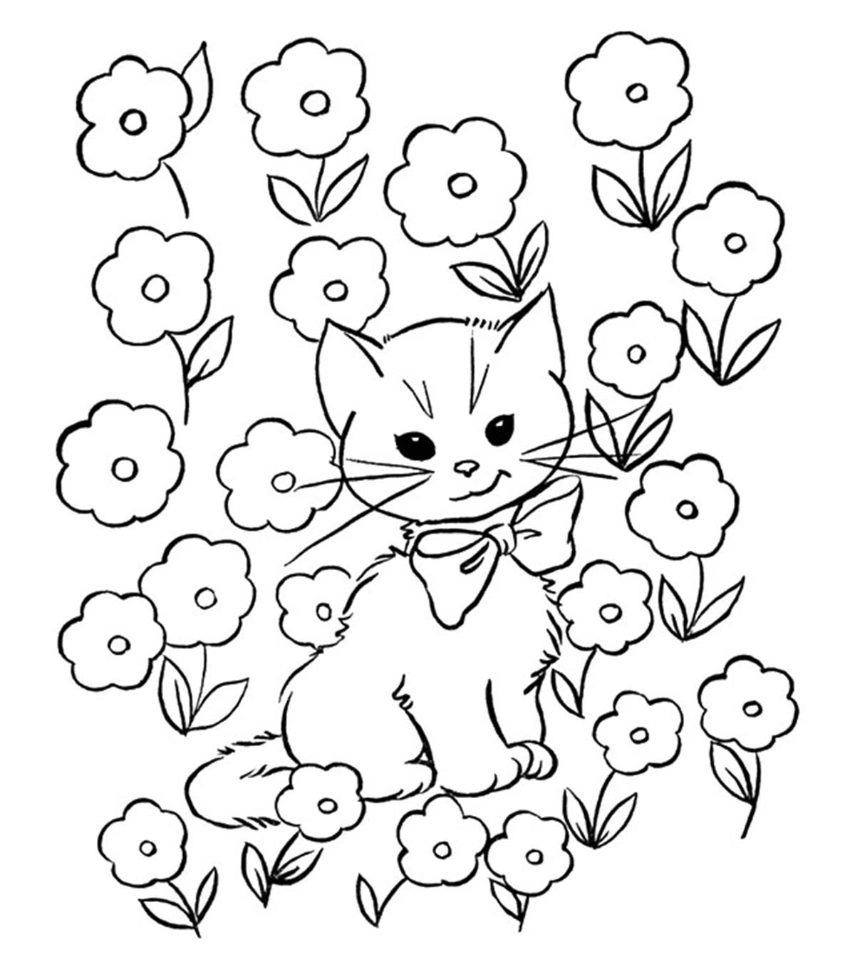 Cute Cats Coloring Pages - Coloring Home